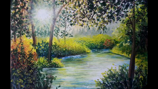Evergreen Oil Pastel Painting Lesson