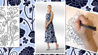 Enhanced Stylized Line Art for Pattern Design in Illustrator