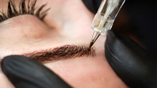 Permanent makeup Eyebrow hair by hair technique WITH MACHINE