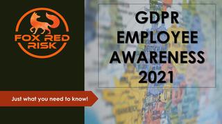 EU GDPR: Employee Awareness Training Certificate 2021