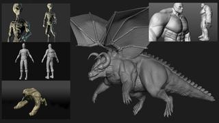 MEGA PACK 5 en 1 Esculpido orgánico de personajes 3D ZBrush