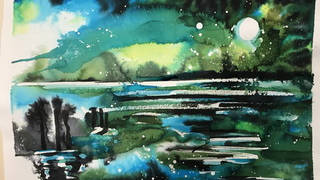 (English) How to  paint with high concentrated watercolor